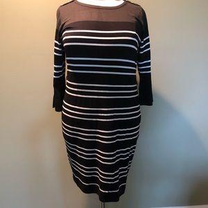 Ashley Stewart stripe sweater dress  size 18/20 2X